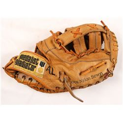 "Ernie Banks Signed Vintage Gladiator Baseball Glove Inscribed ""Let's Play Two Today""  ""Mr Cub"" (JSA"