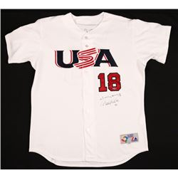 Derek Jeter  Johnny Damon Signed Team USA Limited Edition Majestic Jersey (Steiner Hologram)