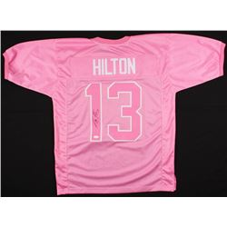T.Y. Hilton Signed Colts Breast Cancer Awareness Jersey (JSA COA)
