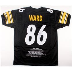 Hines Ward Signed Steelers Career Highlight Stat Jersey (JSA COA)