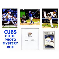 Chicago Cubs Signed Mystery Box 8x10 Photo - 2016 World Champions Edition – Series 5 (Limited to 1