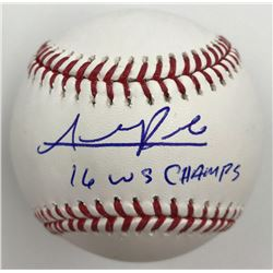 """Addison Russell Signed Baseball Inscribed """"16 WS Champs"""" (MLB)"""
