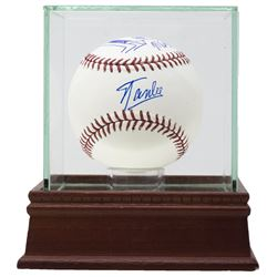 Stan Lee  Michael Golden Signed OML Baseball with Hand-Drawn Sketch with High Quality Display Case (