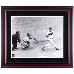 """Ted Williams Signed Red Sox """"Last Home Run At-Bat"""" 23.5x27.5 Custom Framed Photo Display (Ted Willia"""