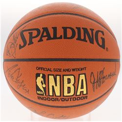 1994-1995 Jazz Basketball Team-Signed By (14) With Antoine Carr, Felton Spencer, Bryon Russell, John