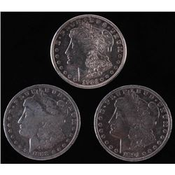 Lot of (3) Morgan Silver Dollars with 1888-O, 1891.  1921-S