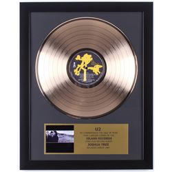 "U2 Custom Framed 15.75x19.5 Gold Plated ""The Joshua Tree"" Record Album Award Display"
