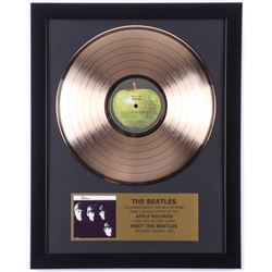 "The Beatles Custom Framed 15.75x19.5 Gold Plated ""Meet The Beatles!"" Record Album Award Display"