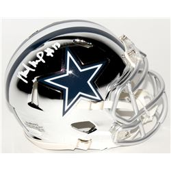 Michael Gallup Signed Cowboys Chrome Speed Mini Helmet (JSA COA)