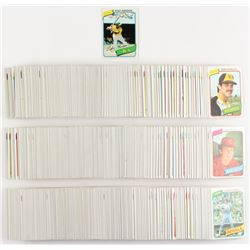 Complete Set Of (726) 1980 Topps Baseball Cards With #482 Rickey Henderson RC