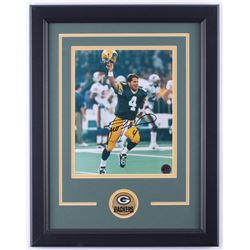 Brett Favre Signed Packers 14.5x18.5 Custom Framed Photo Display (Favre Hologram  COA)