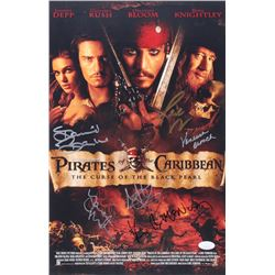 """Pirates Of The Caribbean: The Curse Of The Black Pearl"" 11x17 Photo Cast-Signed by (6) with Martin"