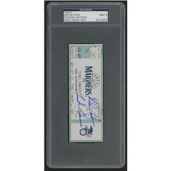 "Nolan Ryan Signed 1993 Ticket Inscribed ""'Last Game"" (PSA Encapsulated)"