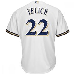 Christian Yelich Signed Brewers Jersey (Steiner COA)