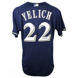 Christian Yelich Signed Authentic Majestic Brewers Jersey (Steiner COA)