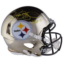 """Jerome Bettis Signed Steelers Chrome Full-Size Authentic On-Field Speed Helmet Inscribed """"HOF 15"""" (F"""