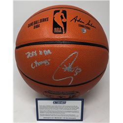 """Stephen Curry Signed NBA Game Ball Series Basketball Inscribed """"2018 NBA Champs"""" (Steiner COA)"""