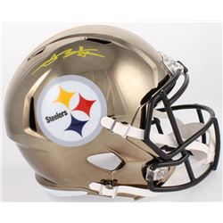 Antonio Brown Signed Steelers Full-Size Chrome Speed Helmet (JSA COA)