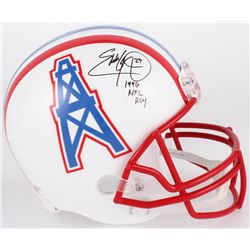 "Eddie George Signed Oilers Full-Size Helmet Inscribed ""1996 NFL ROY"" (Beckett COA)"