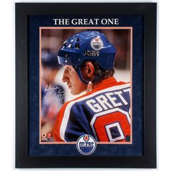 Wayne Gretzky Signed LE Oilers 23.5x27.5 Custom Framed Photo Display (Gretzky Hologram)