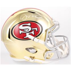 Joe Montana Signed 49ers Full-Size Chrome Speed Helmet (Beckett COA)