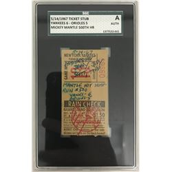Mickey Mantle 500th Home Run Ticket (SGC Encapsulated)