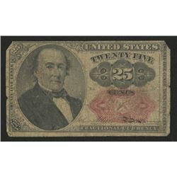 1874 United States 25¢ Twenty Five Cents Fractional Bank Note Bill (Fifth Issue)