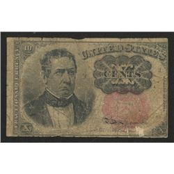 1874 United States 10¢ Ten Cents Fractional Bank Note Bill (Fifth Issue)