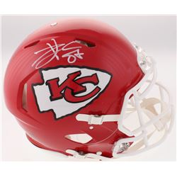 Travis Kelce Signed Chiefs Full-Size Authentic On-Field Speed Helmet (Beckett COA)