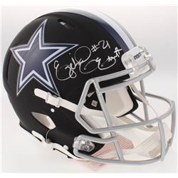 Ezekiel Elliott Signed Cowboys Full-Size Custom Matte Black Authentic On-Field Speed Helmet (Beckett
