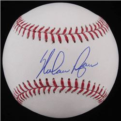 Nolan Ryan Signed OML Baseball (AI Verified COA  Ryan Hologram)