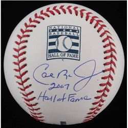 "Cal Ripken Jr. Signed Hall of Fame Logo Baseball Inscribed ""2007 Hall of Fame"" (JSA COA)"