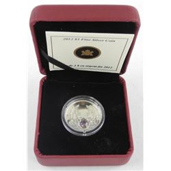 2012 .9999 Fine Silver $3.00 Coin 'February Birthstone' (CE)