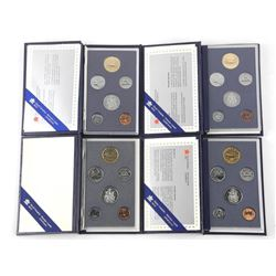 Lot (4) RCM Specimen Coin Sets: 1991, 1994, 1996, 1988