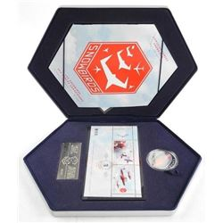 Canadian Forces - Snowbirds Stamp and Coin Set. .9999 Fine Silver Double Hologram Coin and Stamp