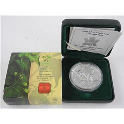 2003 .9999 Fine Silver $5.00 Coin 'Maple Leaf Coloured'