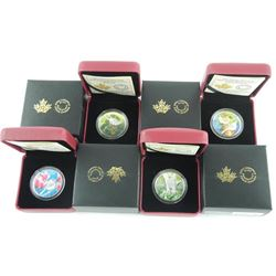 Lot (4) .9999 Fine Silver $10.00 Coins 'Birds Among Natures Colours' LE/C.O.A.