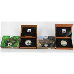 Lot (2) .9999 Fine Silver $20.00 Coin and Stamp Sets 'The Mountain Goat and Porcupine' LE/4000 (SXR)