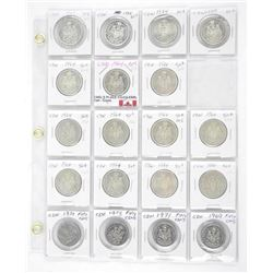 Lot (19) Canada 50 Cent Coins (15-S) (4-N) (MER)