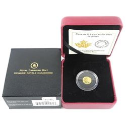 2015 .9999 Fine Pure Gold Coin 25 Cent Grizzly Bear. LE/C.O.A. (GR)