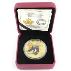 2016 .9999 Fine Silver and Gold Overlay $20.00 Coin 'The Pileated Woodpecker' LE/C.O.A.