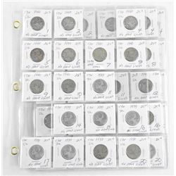 Lot (51) Canada Silver 25 Cent Coins 2x2 + Sheets (OXR)