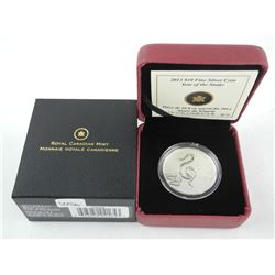 2013 .9999 Fine Silver $10.00 Coin 'Year of Snake' LE/C.O.A. (119943) (KR)