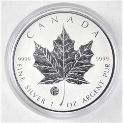 2012 Canada .9999 Fine Silver $5.00 Maple Leaf with Privy 1 oz ASW