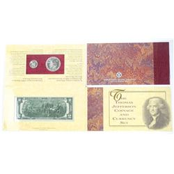 'The Thomas Jefferson' Coinage and Currency Set
