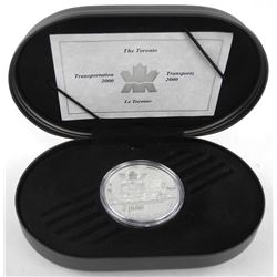 925 Sterling Silver Proof $20.00 Coin 'The Toronto' with C.O.A.