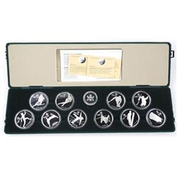 Canada 1988 10pc Olympic Coin Set 925 Sterling Silver, 10x$20.00 Proof with C.O.A.
