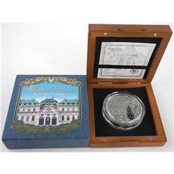 Poland Mint 'Belvedere Vienna' 2 New Zealand Dollars Coin .999 Ag, Amethyst Insert 2oz ASW, 2015 wit