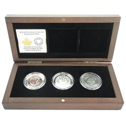 2015 .9999 Fine Silver Coin Set - 3 x $25.00 Ultra High Relief - 3 Coin Set (OCR) 'SINGING MOON MASK