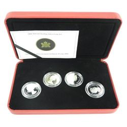 2004 4 Coin Set 925 Sterling Silver 50 Cents - 'Queen's Portrait' with C.O.A.